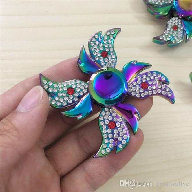 Angel Diamond Hand Fid Spinner Toy Edc Tri Spinner Fid Toy