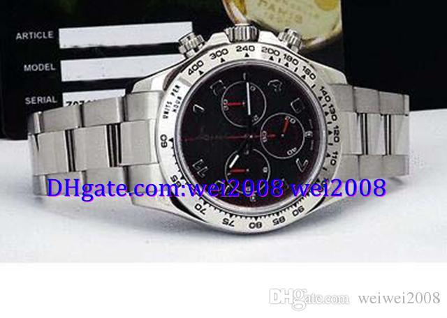 Luxury watch free box 2017 116509 - 18kt White Gold Black Index Red Hands