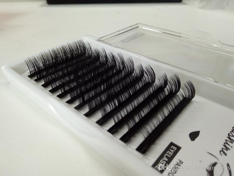 2018 seashine Top quality Seashine D Curl 0.15mm individual eyelash false eyelash 8-15mm volume eyelash Russian material handmade