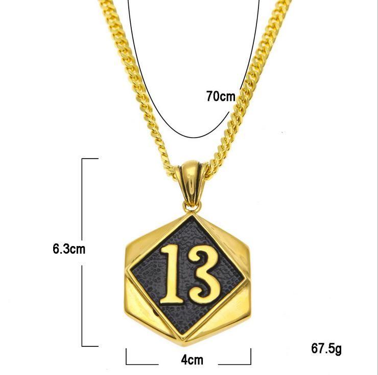 LUCKY13 повезло цифровой тег ожерелье