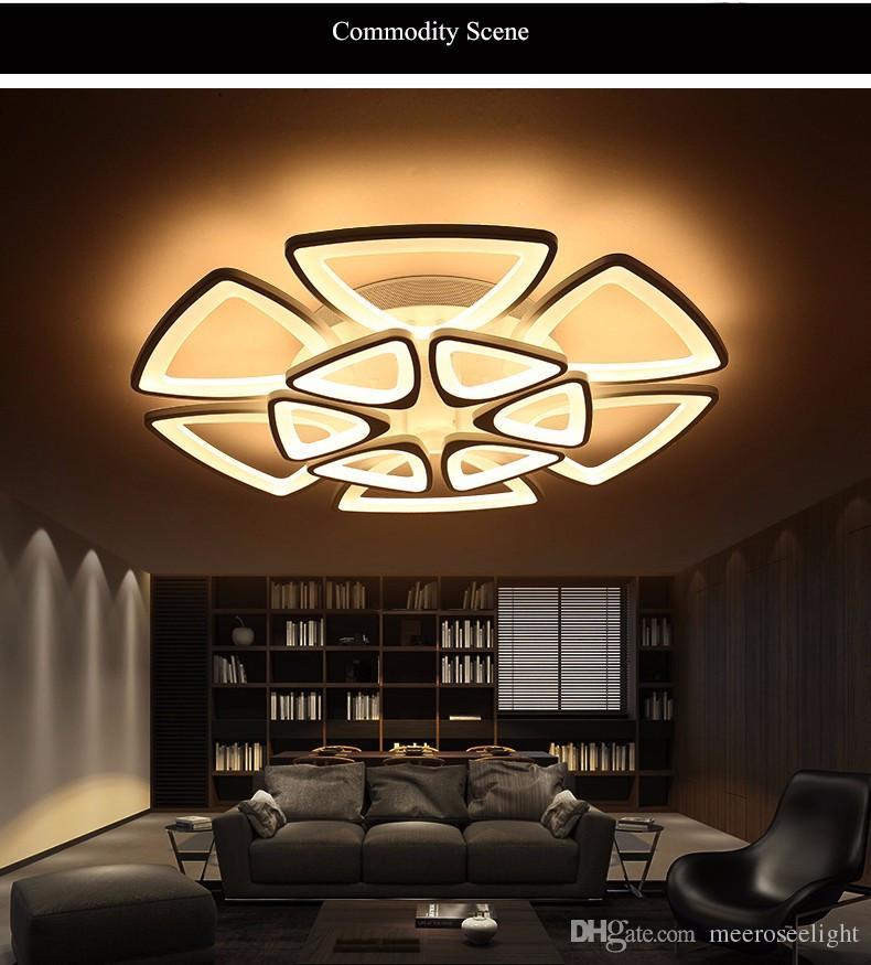 Acheter Le Lustre Minimaliste Moderne De Plafond De Led Allume Pour