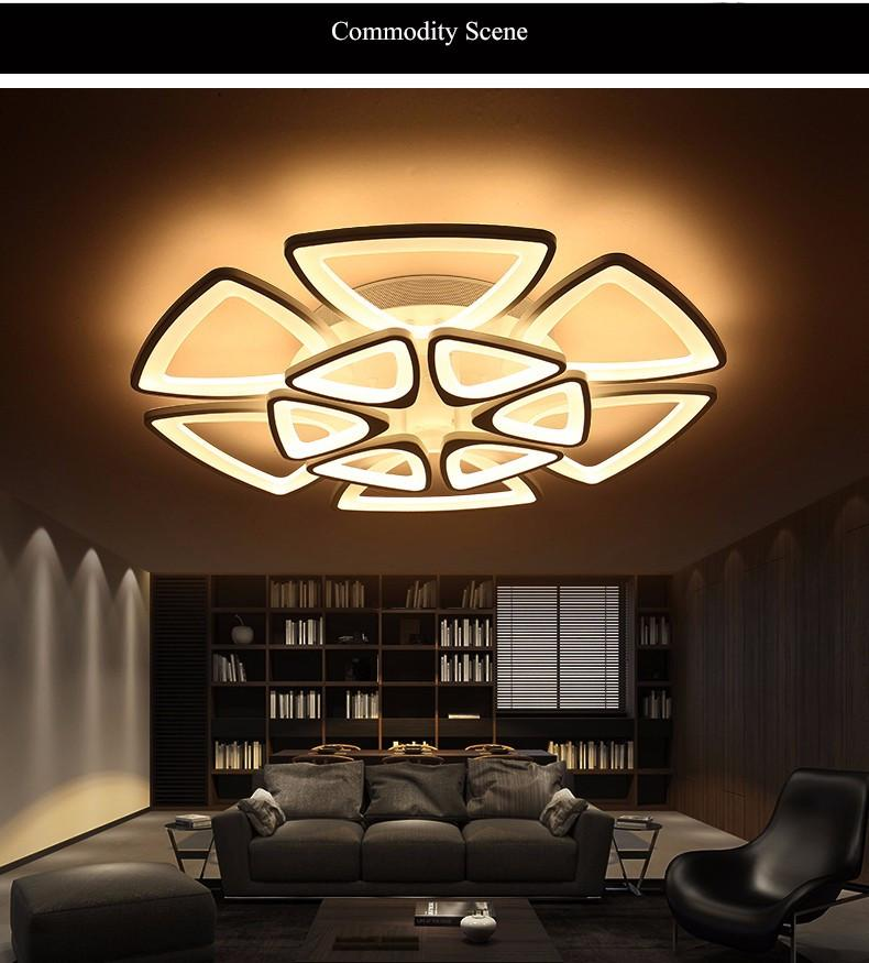 Minimalist Modern LED Ceiling Chandelier Lights for Living Room
