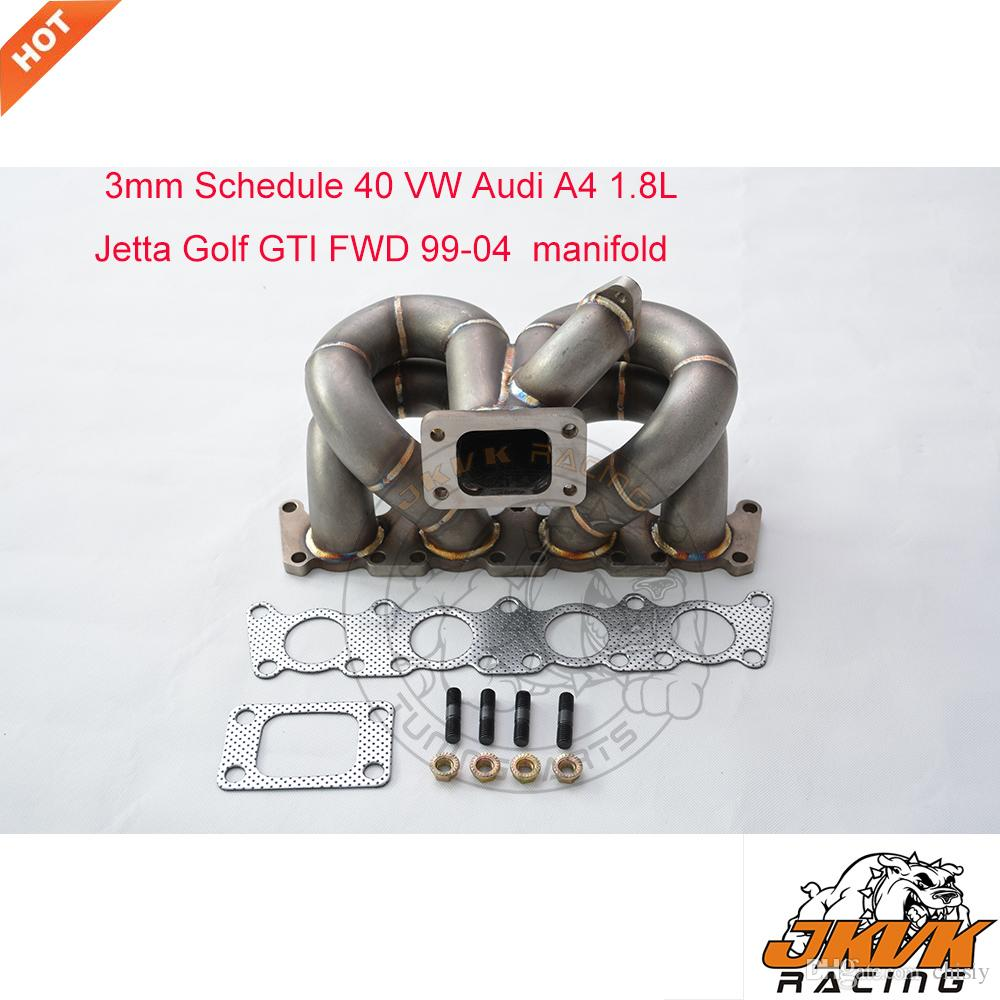 2019 JKVK RACEING 3mm Steam Pipe T3 Turbo Manifold 99 04 VW Audi A4 18L Jetta Golf GTI FWD Header From Chisiy 29046