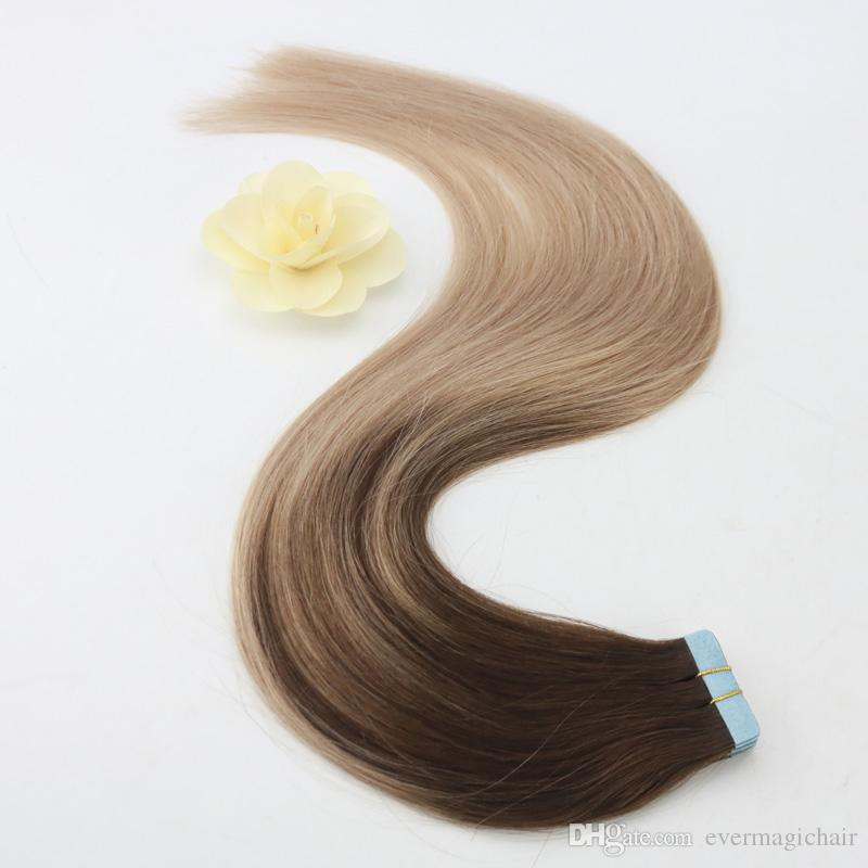 Easy To Dye African American Human Tape Hair Extensions Brazilian Princess Hair Weave For African Americans