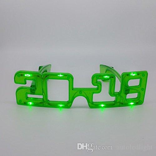 Lunettes LED luminescentes 2018 Flash lunettes Jouet danse Light Up Led lunettes clignotantes Halloween Christmas Birthday Party Eyewear