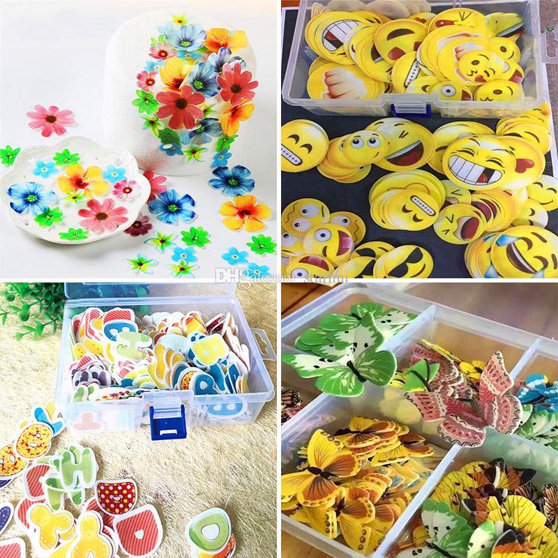 Paquete 12 Herramienta Bricolaje Papel De Arroz Toppers Cupcake Decoración Other Baking Accessories