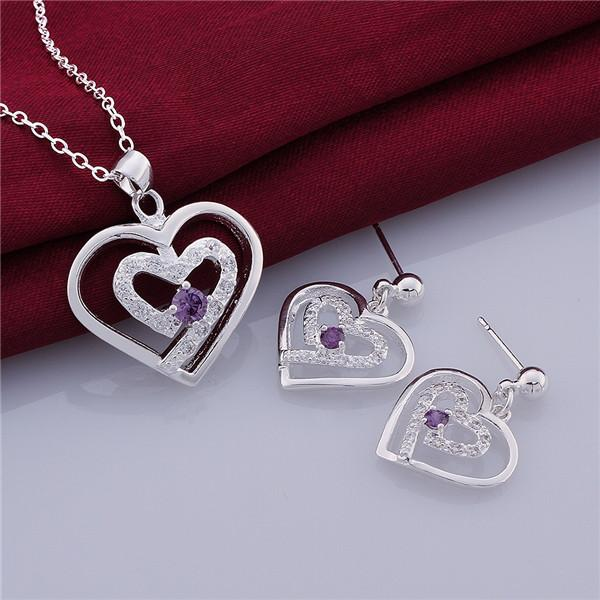 fashion women's gemstone sterling silver jewelry set mixed style same price,wedding 925 silver Necklace Earring jewelry set GTS28
