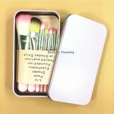 Hello Kitty Mini Make Up Brush Set Fashion Cosmetics Cute Makeup Brush Women Makeup Brush With Beauty Cosmetic Brushes Metal Box