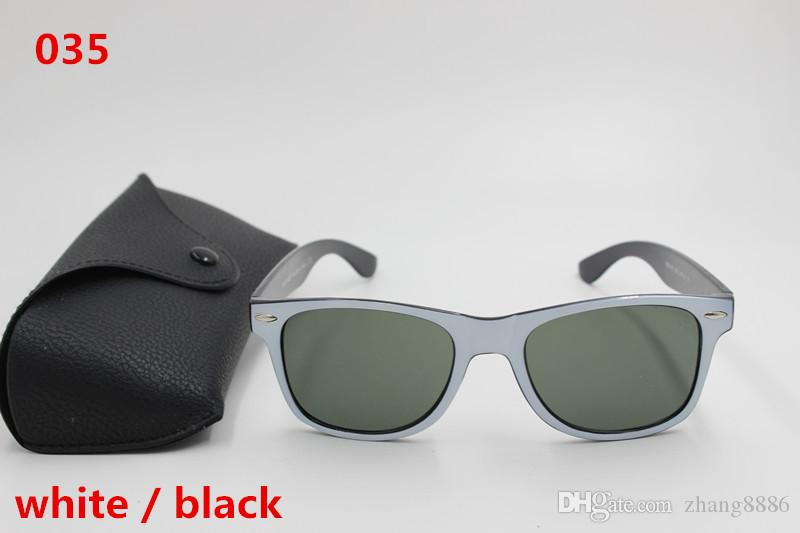 high quality men and women fashion sunglasses black framework black lens 51 mm UV400 black box