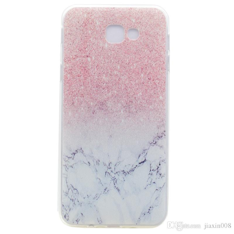 best service c5445 22ef2 Transparent TPU Cover For Samsung Galaxy J3 Prime Case Fashion colour  decoration Tower bike Butterfly Girl Feather Design Phone Case