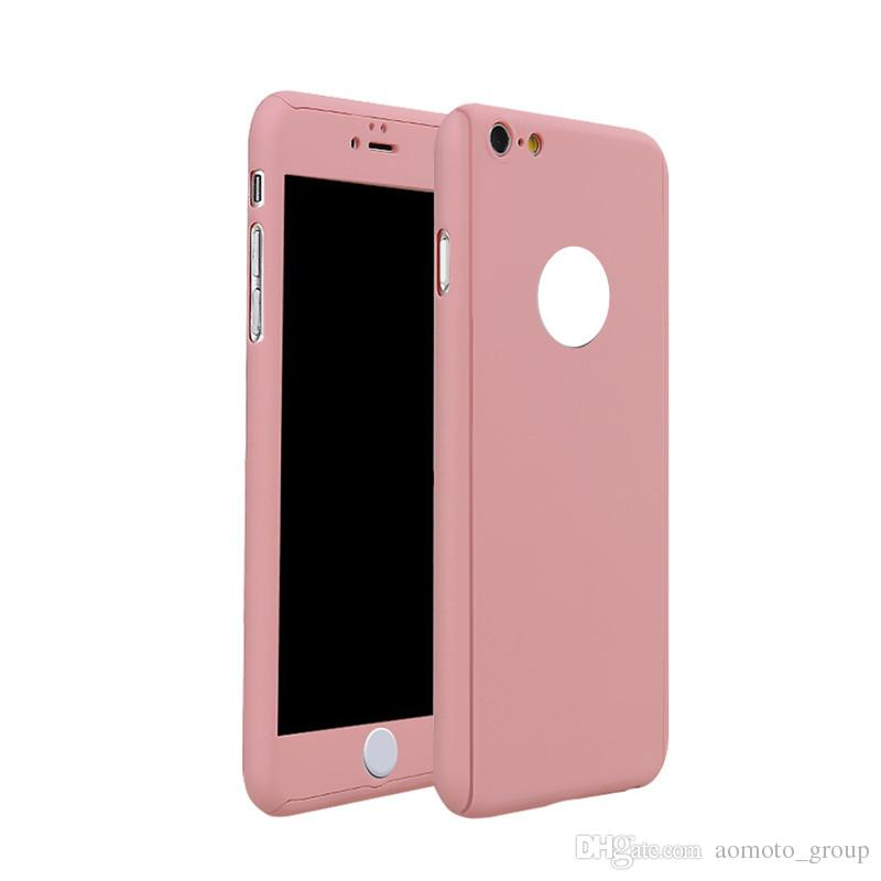 2 in 1 Full Body Slim Fit Case With Tempered Glass Screen Protector for iPhone 6/6s