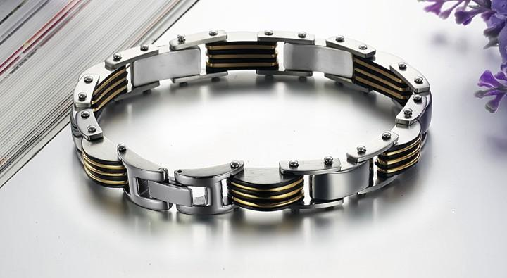 Free sample brand new 316L stainless steel bracelets hand chain link chains body jewellery fashion jewelries jewels accessory GS624