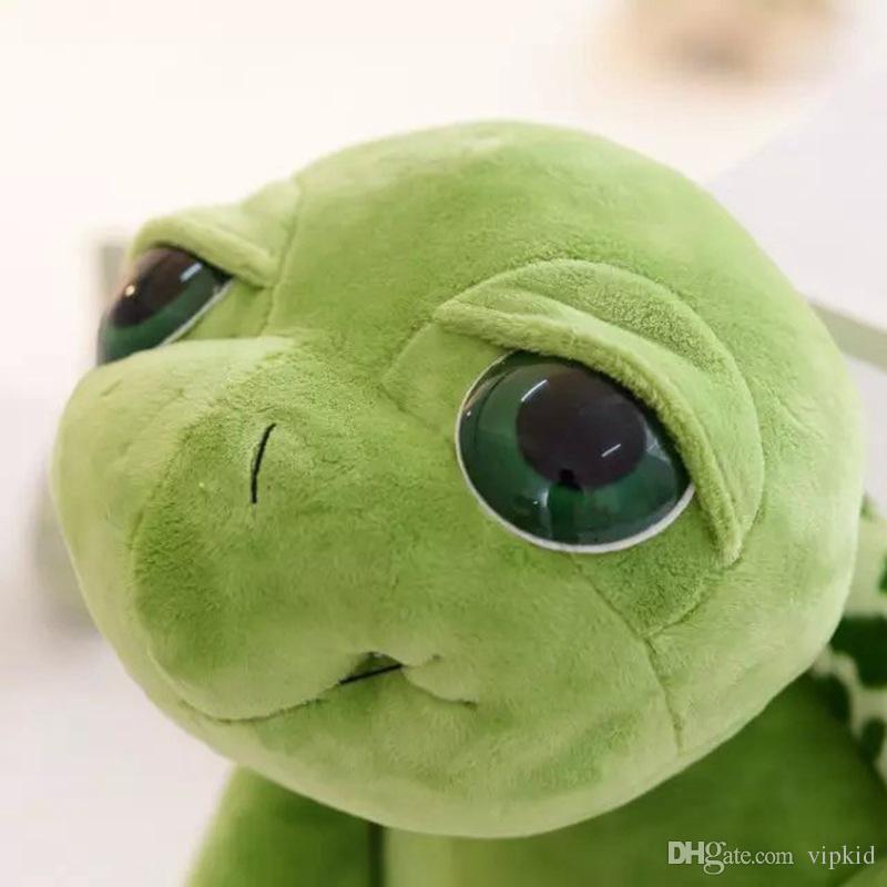 2017 Nuovo arrivo 18 cm Army Green Big Eyes Tartaruga Peluche Tartaruga Bambola Bambini come regalo di compleanno di Natale