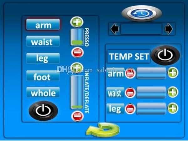 Touchscreen 3 in 1 Luftdruck Pressotherapie Fern Infrarot Sauna Decke Wraps EMS Elektrische Muskelstimulation Abnehmen Maschine