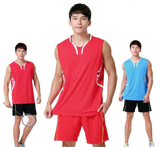 7ecd427b7aa 2019 New Li Ning Rio Sleeveless Men S Badminton Sports Wear Shirt Suit