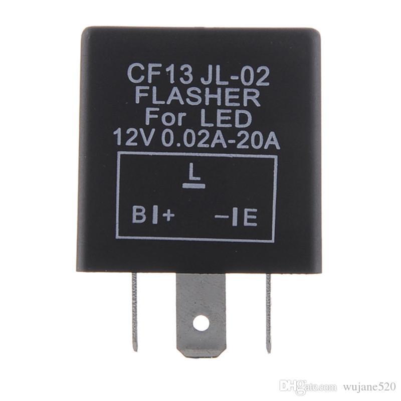 Universal 12V 3 Pin 12V DC 0.02-20A Intermitente del vehículo Arreglo del relé LED de luz Intermitente Hiper Flash CF13 CF13JL-02 EP34