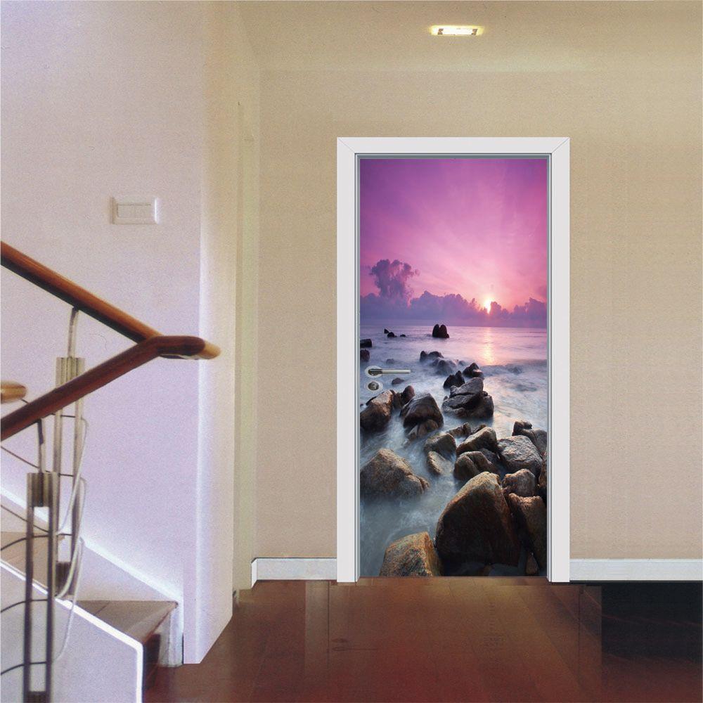 77x200cm Creative 3d Sea View Modern Simple Living Room Wall Sticker ...
