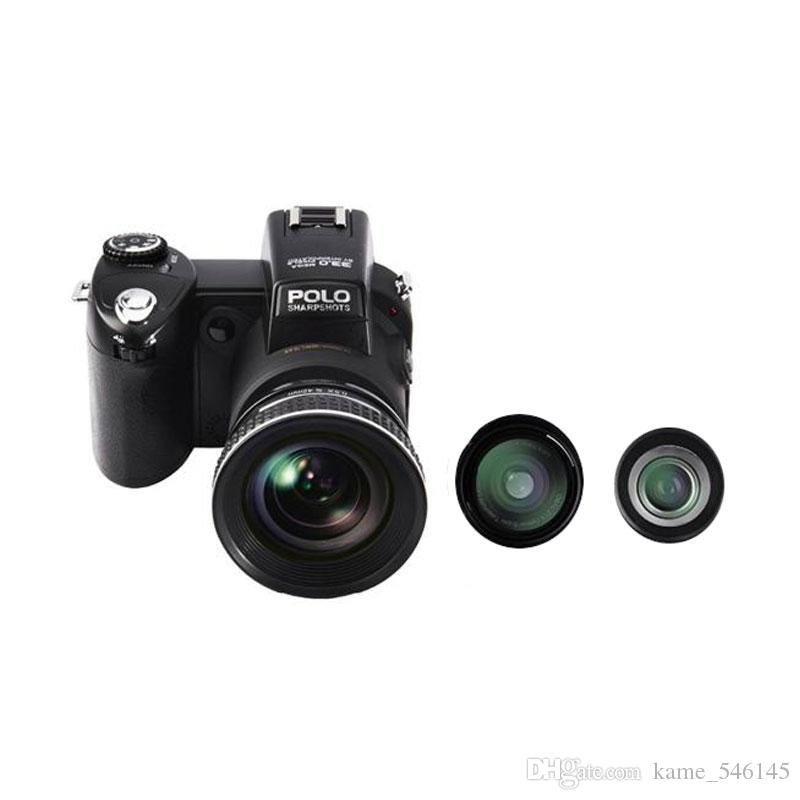 2017New PROTAX POLO D7100 digital camera 24X optical 8x Digital zoom Auto Focus Professional FULL HD DSLR Camera Camcorder with 3Lens