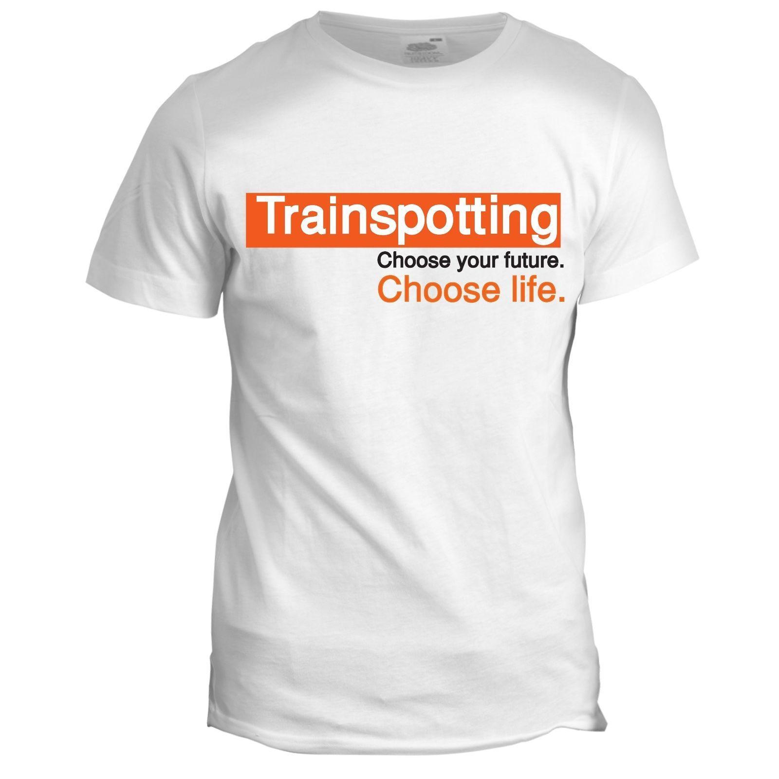 980abdda04b 2017 New Short Sleeve Casual T Shirt Tee Trainspotting Inspired Film Movie  Mens Tumblr 90s Choose Life T Shirt T Shirs T Shirst From Bstdhgate04
