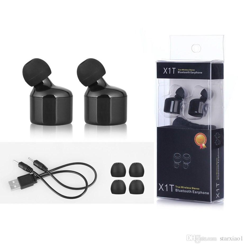 X1t Twins Earphone True Wireless Headset Bluetooth Earphones For Earbud Mini Iphone 8 7 Samsung Xiaomi Earbuds Micro Earpiece Best Cell Phone