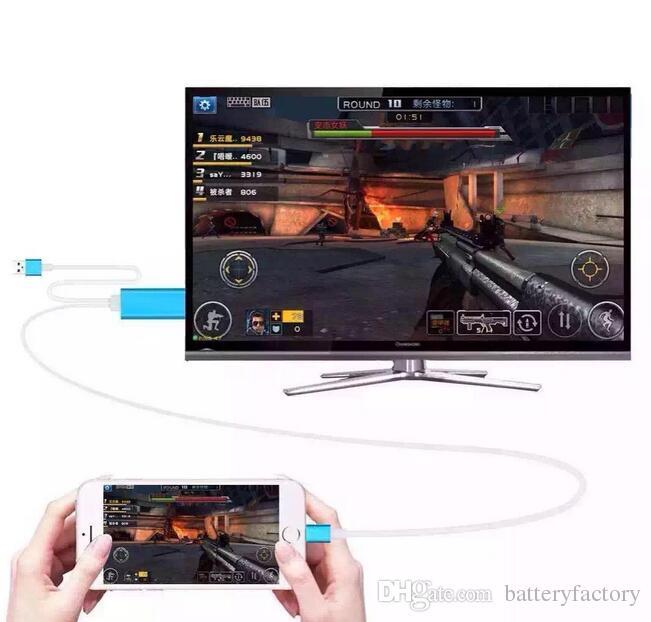Dock zu HDMI HDTV TV-Adapter USB-Kabel 1080P für iPhone 5 / 5S / 6 / 6S / 6PLUS / 6S PLUS7 / 7 plus HDMI Kabel mit Kleinkasten