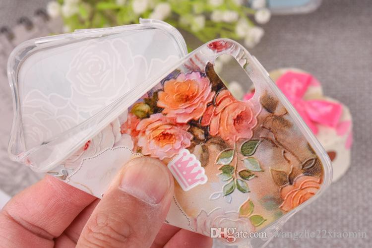 3D Relief Mandalas DIY personnalisé téléphone portable mince couverture TPU professionnelle pour Iphone 6s 6s, plus de bricolage Personnaliser photo Photos