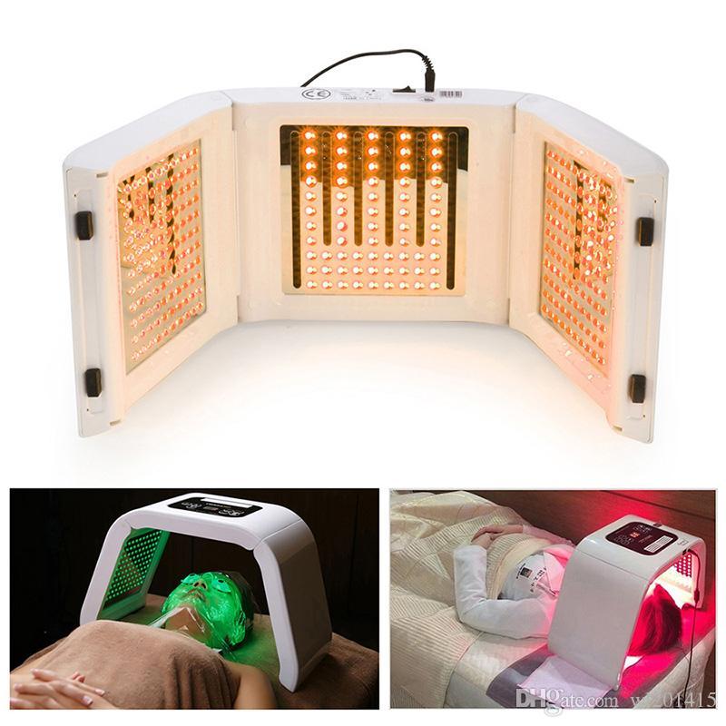 Akne Çil Temizleme Ayrılabilir Güzellik salonu kullanımı için 4 Renkli LED Işık makinesi LED Foton Terapi Maskesi PDT ışık