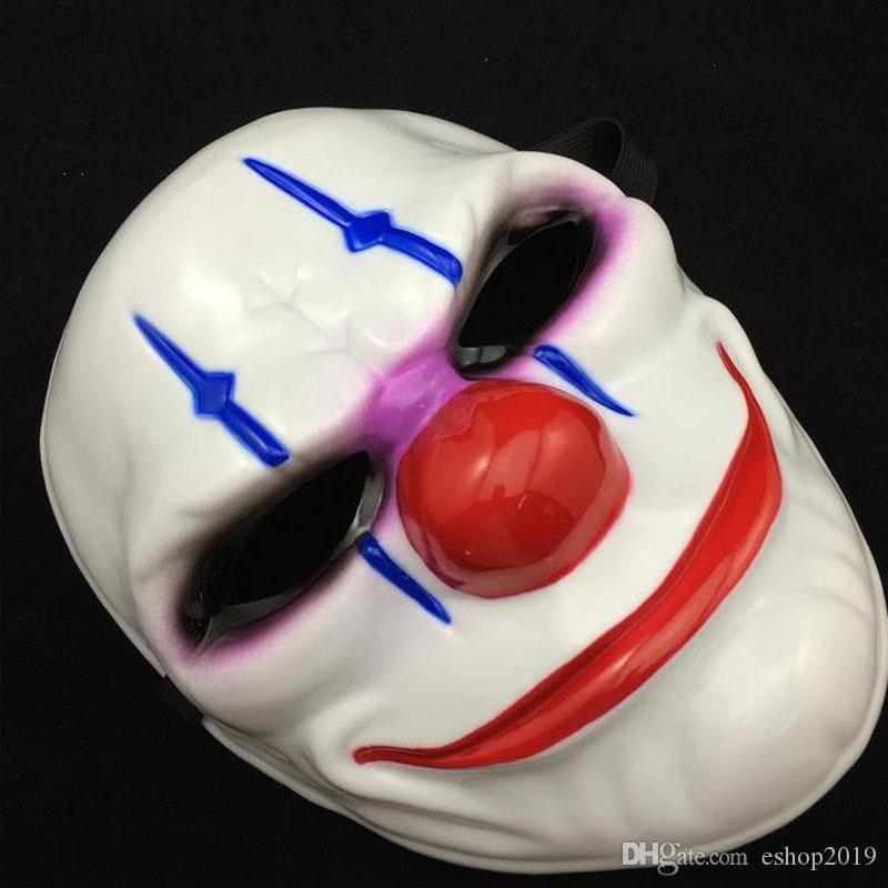 Halloween Horror Mask Payday Mask Newest Topic Game Series Plastic Old Head Clown Flag Red Head Masquerade Supplies