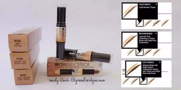 NYX Wonder Stick concealer Highlight & Contour Stick Foundation Face makeup Double-ended Contour stick Light/Medium/Deep/Universal