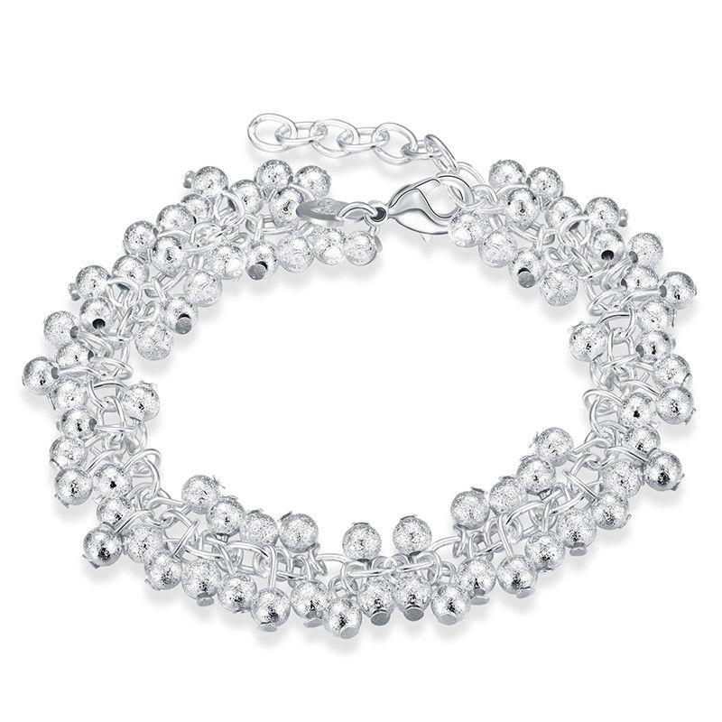 925 uva de plata pulsera de moda joyería de la muchacha de alta calidad 8 pulgadas envío gratis 10 unids
