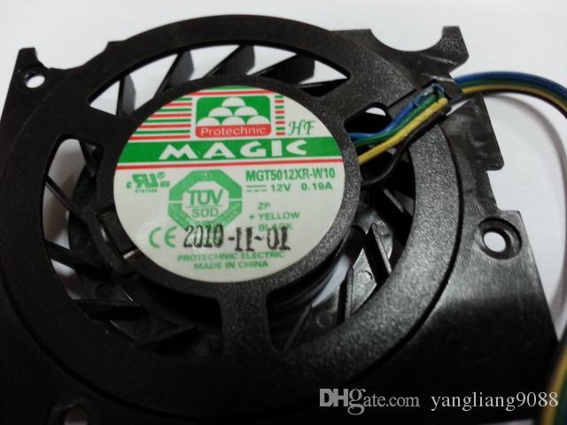 MAGIC MGT5012XR-W10 DC 12V 0.19A 4 hilos conector de 4 pines 50mm Servidor Ventilador desnudo