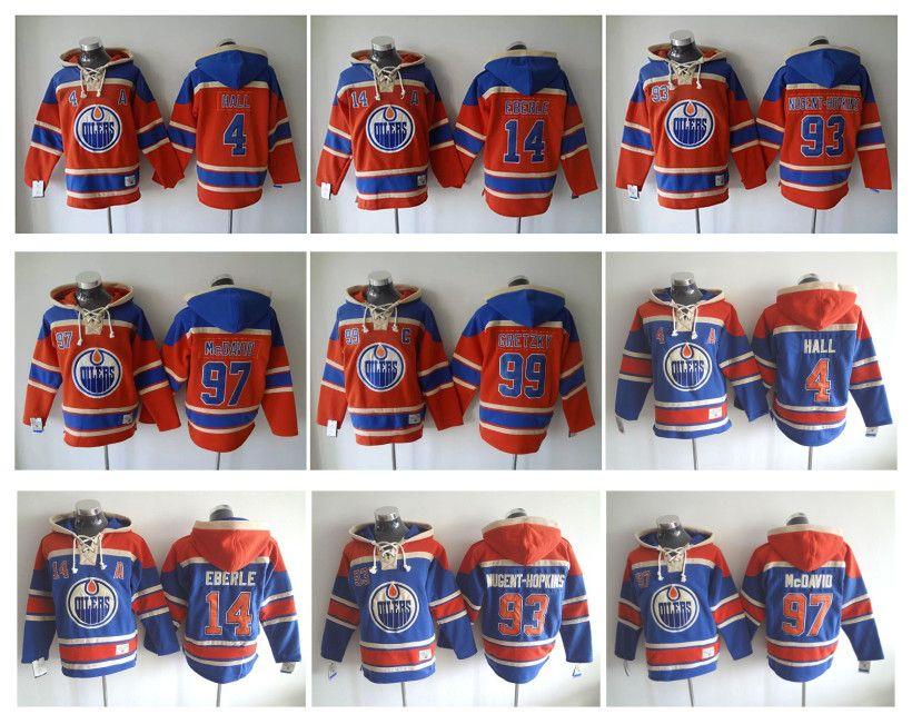 c3b083e5655 ... 2017 Edmonton Oilers Hockey Jerseys 4 Taylor Hall 14 Jordan Eberle 97  Connor Mcdavid 99 Wayne ...