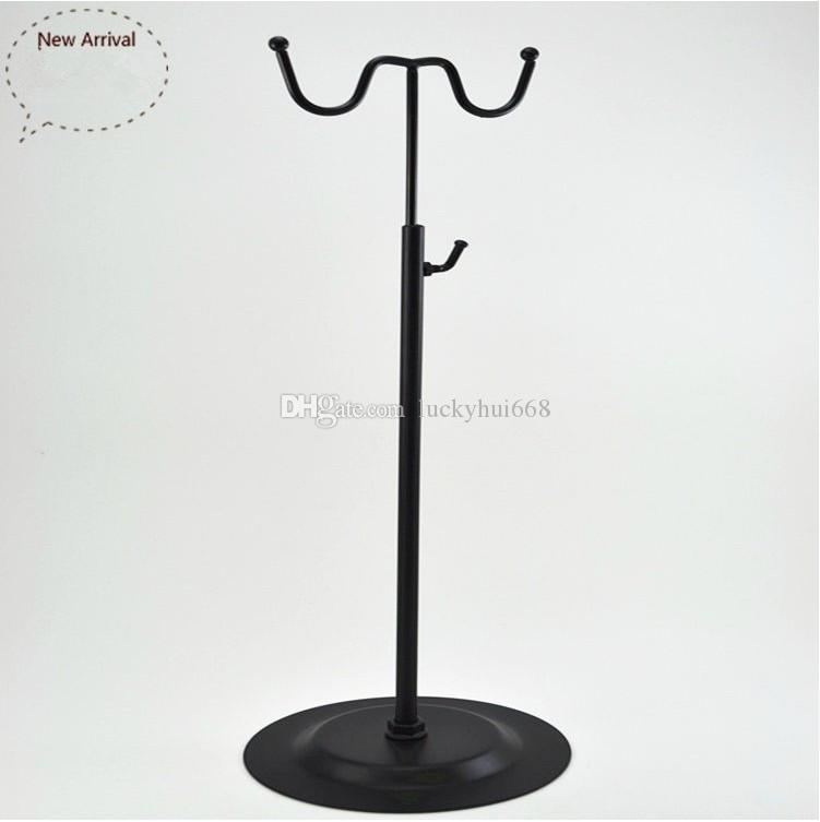High quality Black handbag display stand women bags display rack W-shape wig purse shoes cap display holder fashion Boutique props