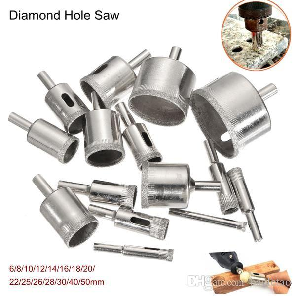 6-50mm Diamond Hole Saw Drill Bit Set Tile Ceramic Glass Marble Drill Bits