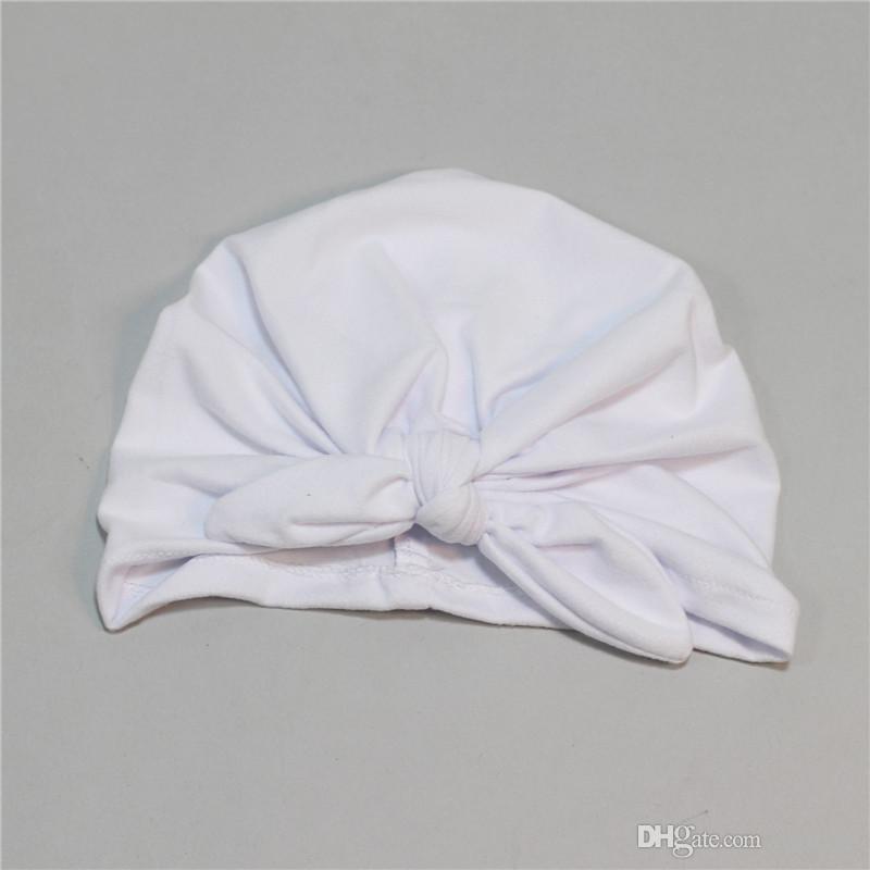 10 Renkler Bebek Yay Şapka Bunny Kulak Caps Avrupa Tarzı Turban Knot Başkanı Sarar Şapkalar Bebek Hindistan Şapka Çocuklar Kış Beanie