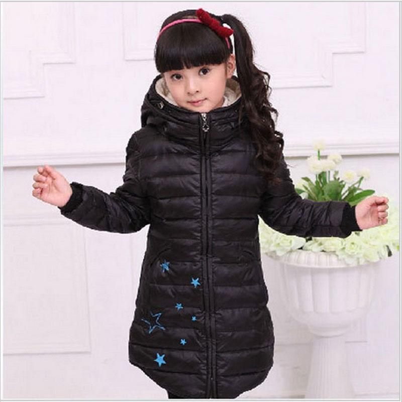 2016 Winter Girl Clothes Slim Thick Down Jacket Coat Children'S ...