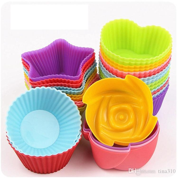 New Four kinds of shapes Food grade silicone household cake Moulds Baking Moulds DIY cake cup Food mould IA622