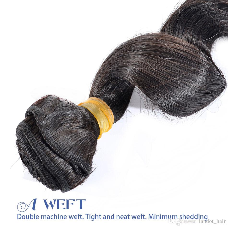 Brazilian Loose Wave Virgin Hair 3/4Bundles Best 10A Unprocessed Peruvian Indian Malaysian Human Hair Weave Natural Color Can Bleach Can Dye