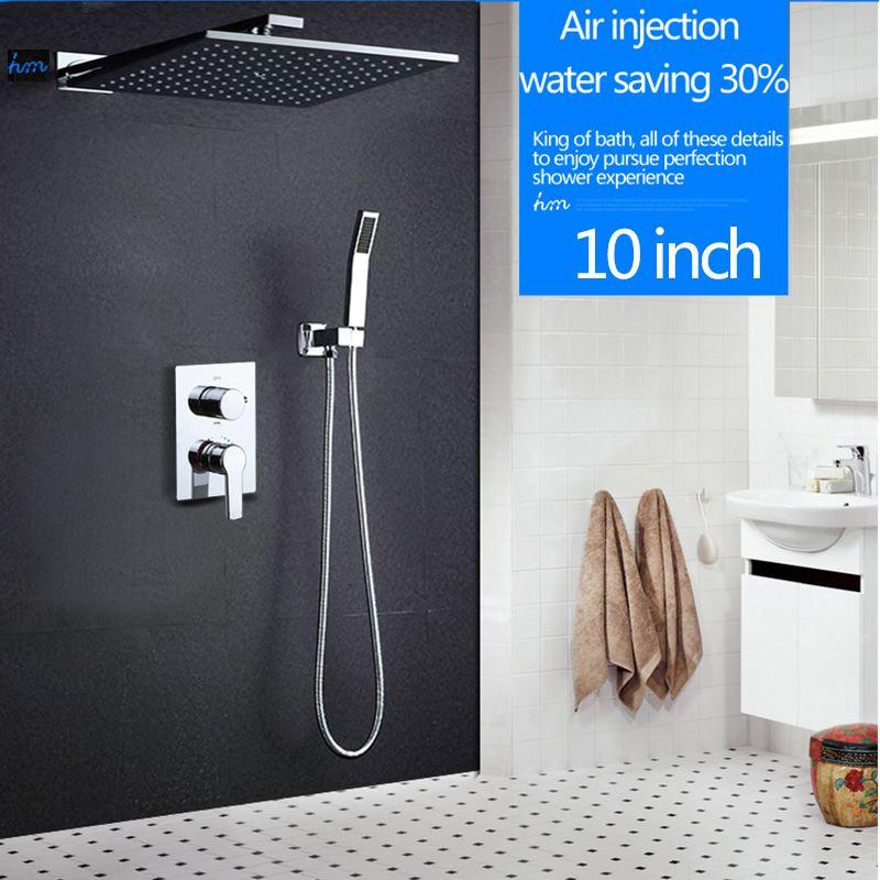 2018 Hm 10 Rainfall Shower Head System Polished Chrome Bath ...