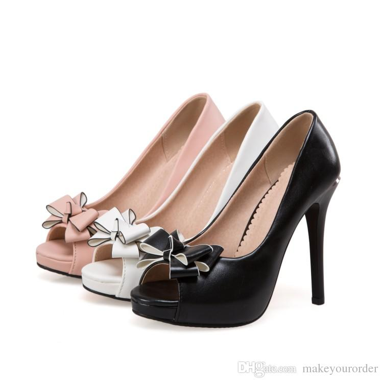 wholesaler factory price PU new style peep toes sexy high heel women dress shoe 193