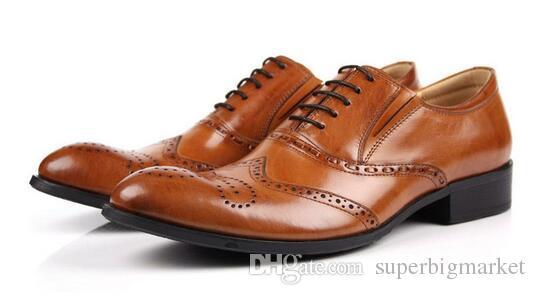 Homme Chaussures habillées Oxford Bout rond Chaussures pour homme Personnalisées Chaussures faites à la main Cuir de veau véritable Couleur braguette boutonnée