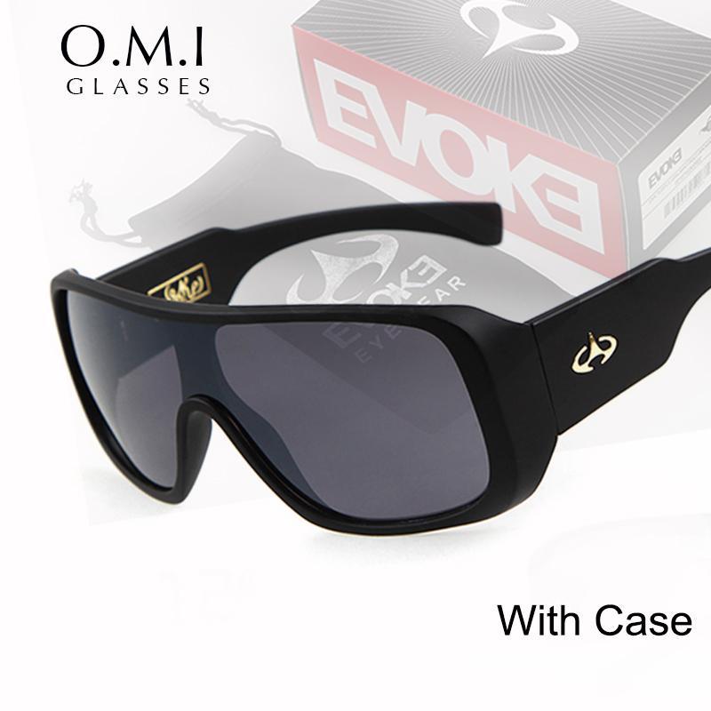 Wholesale- WHO CUTIE Brand EVOKE Sunglasses 2017 Men Classic ONE PIECE  Square Driving Sun Glasses Shades Male Designer Oculos OM283 Evoke  Sunglasses Brand ... 3e33cdf549