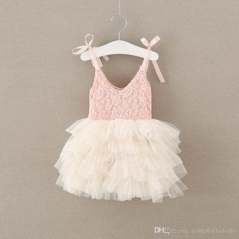7e2004e509665 2017 Baby Girls Tulle Lace Dresses Kids Girls Princess tutu Dress Babies  Singlet Party Dress Children s Spring Summer clothing