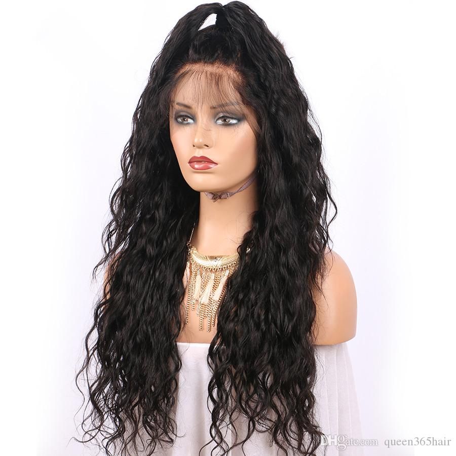 Wet wavy Human Hair Lace Wigs for Black Women Lace Front Wigs water Wave Top Quality Hair Wigs Natural Color 8A