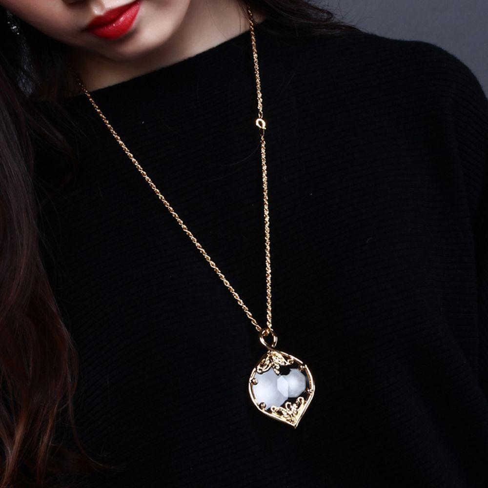 女性のファッションの拡大鏡のネックレスを読むための日本のデザインの虫眼鏡のネックレスの宝石類の虫眼鏡虫眼鏡