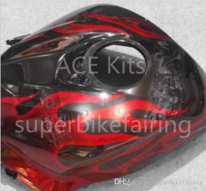 3 regali gratis Honda CBR600RR F5 09 12 CBR600RR 2009 2010 2011 2012 Iniezione ABS moto kit di carene A37S nero fiamma rossa