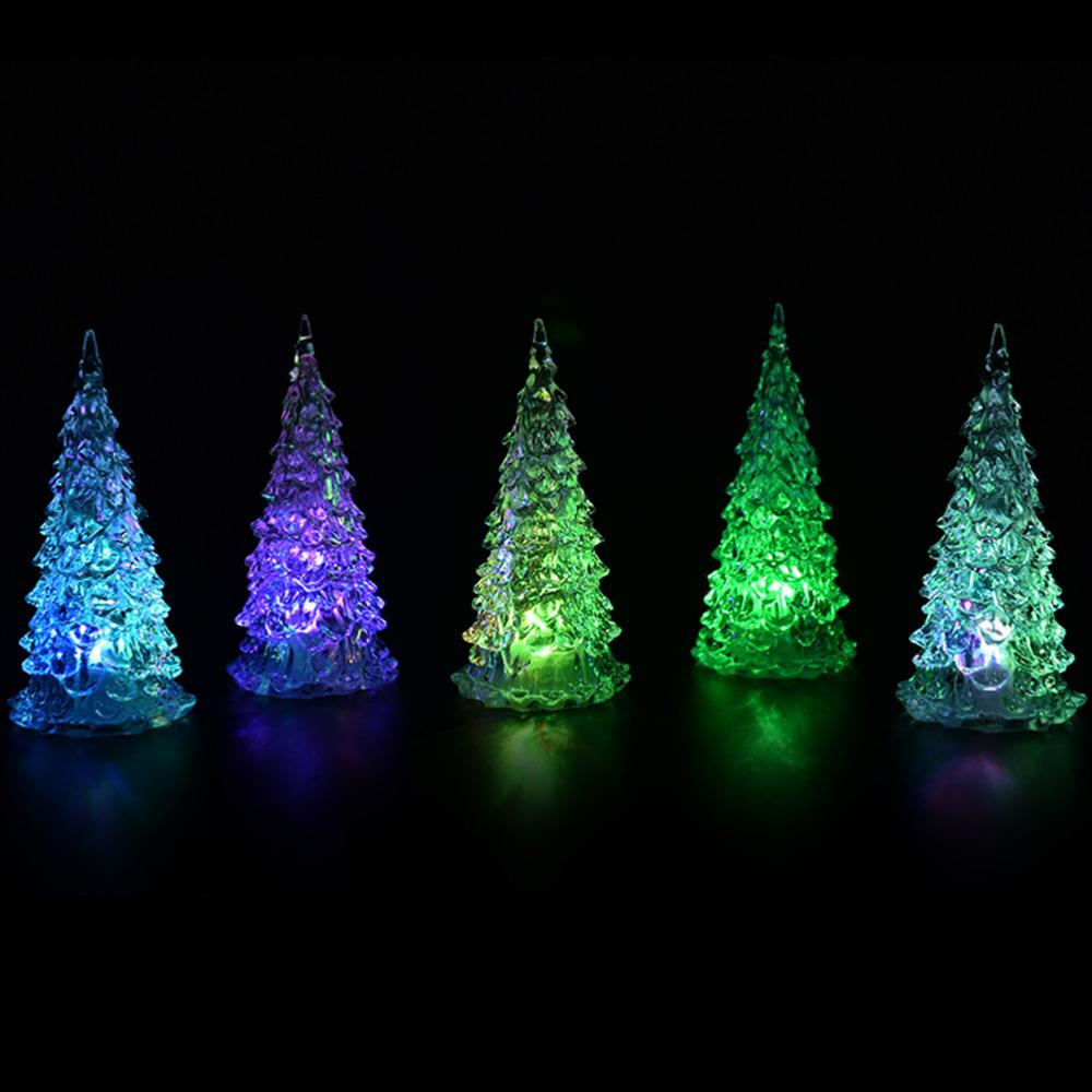 wholesale mini christmas tree crystal colorful led table lamp light baubles decorations xmas festival party wholesale decorating your home for christmas