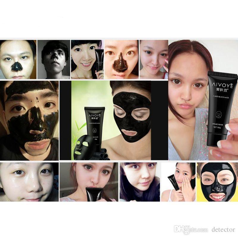 AFY 24k Aspiration des escargots Masque noir nettoyage en profondeur Masque facial Masque comédons maquillage Dissolvant de l'acné Masques de boue noire Maquillage de beauté
