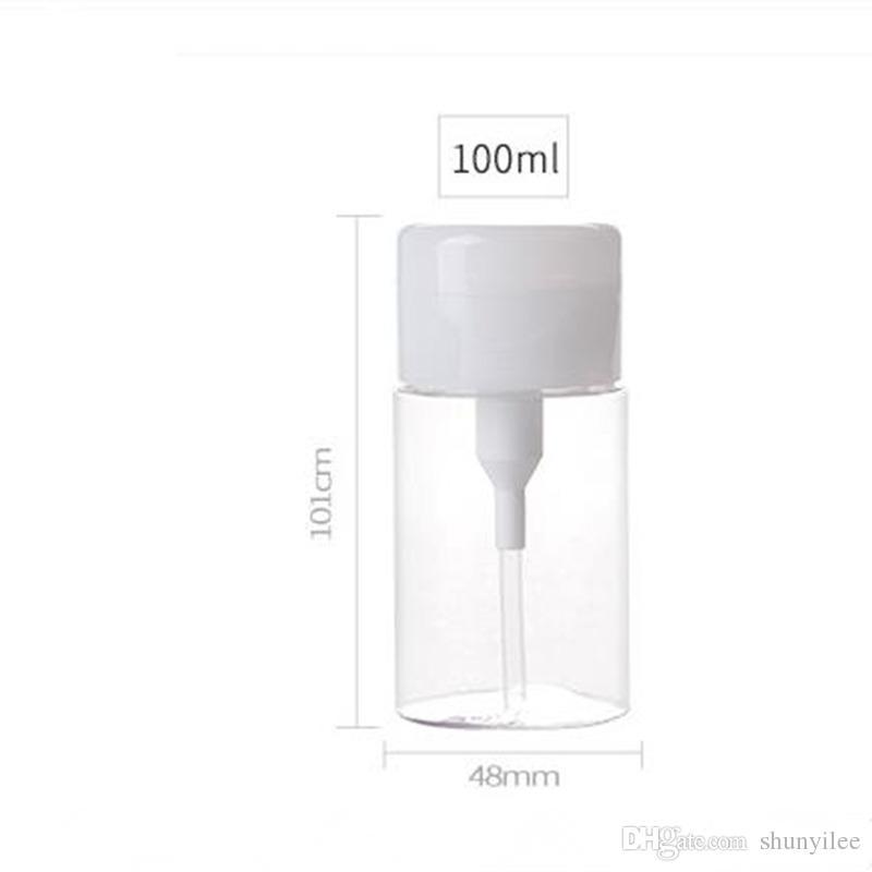 100mlディスペンサーネイルポーランド液体アルコール除去剤クリーナー圧力ボトルネイルアートツール速い船積みF2017585