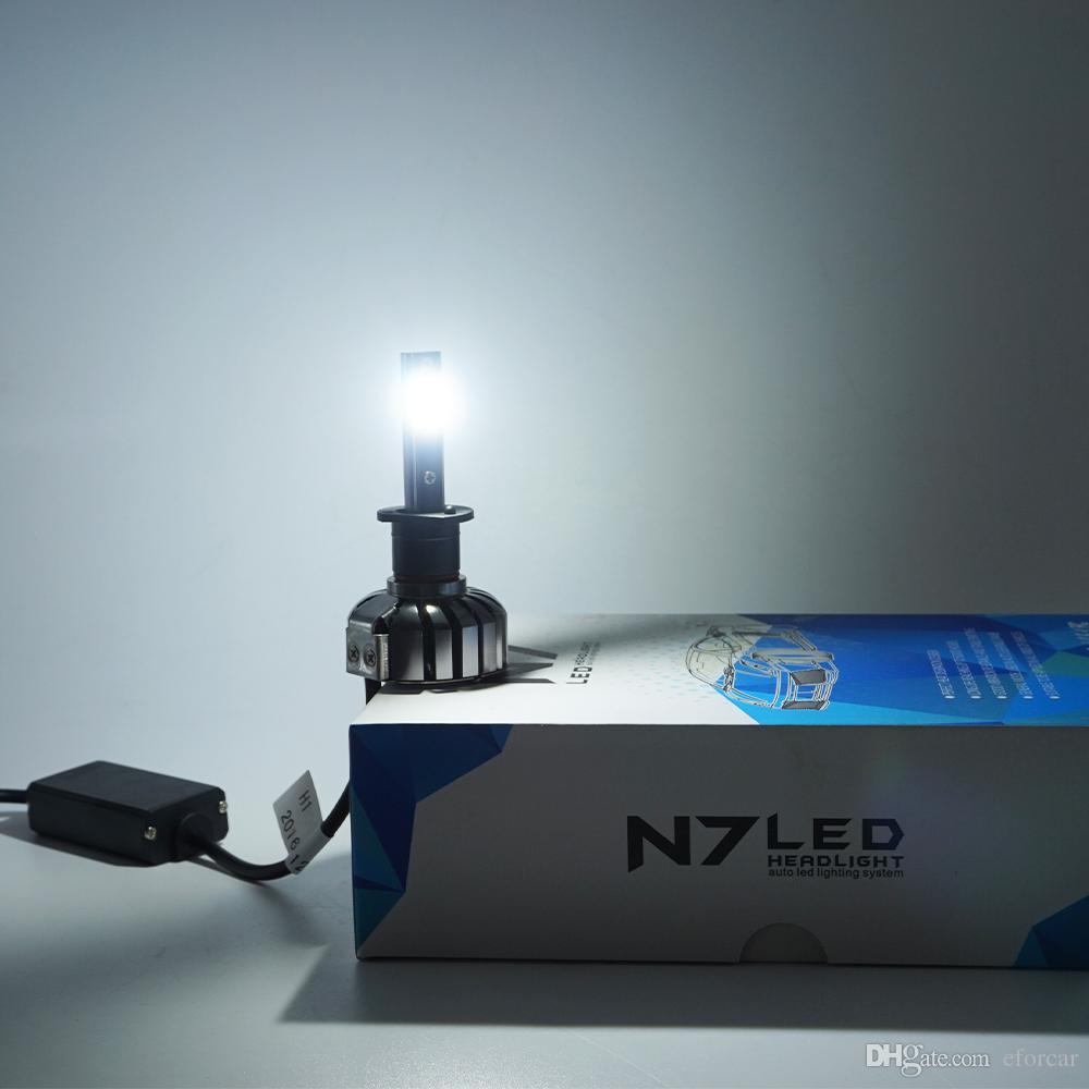 H1 H7 9005 880/881 Lampadine fari a LED con kit di conversione all-in-one con luce LED COB super luminosa e avanzata avanzata di 2 pezzi